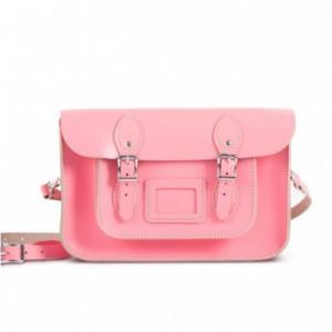 "Gweniss Charlotte Satchel - Pastel Pink - 12.5"""