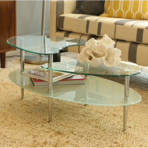 Mariner Glass Oval Coffee Table
