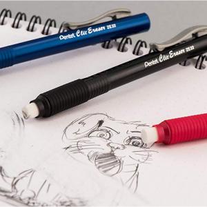 $3.97 Pentel Clic Retractable Eraser with Grip, Assorted Barrels, 3 Pack (ZE21BP3M) @ Amazon