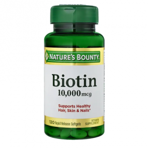 Nature's Bounty Ultra Strength Biotin 10,000mcg, Softgels