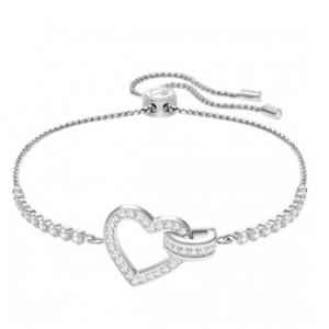 Swarovski White Lovely Bracelet - Rhodium Plating