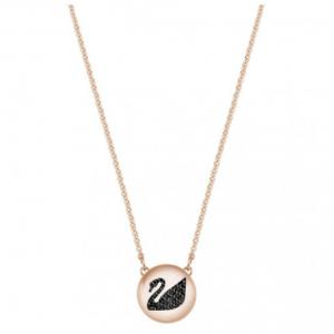 Swarovski Hall Swan Pendant, Grey, Rose Gold Plating