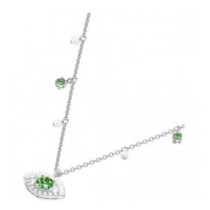 Swarovski Ladies Green Evil Eye Motif Necklace