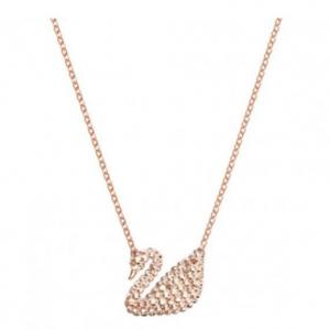 Swarovski Iconic Swan Crystal Pendant in Rose Gold
