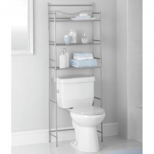 $19.97 Mainstays 3-Shelf Bathroom Space Saver with Liner, Satin Nickel Finish @ Walmart