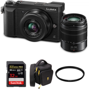 $500 off Panasonic DMC-GX85 + 12-32 &45-150mm Lens + SD + Accessories @ B&H Photo Video