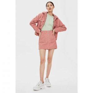PETITE Corduroy Zip Skirt