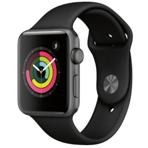 Apple Watch Series 3 (GPS) 42mm Space Gray Aluminum Case with Black Sport Band
