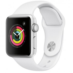 Apple Watch Series 3 (GPS) 38mm Silver Aluminum Case with White Sport Band