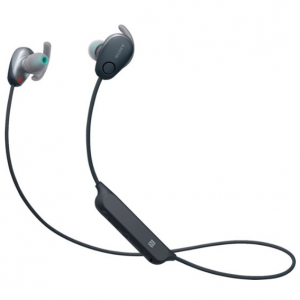 Sony - SP600N Sports Wireless Noise Canceling In-Ear Headphones - Black