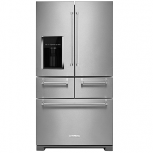 KitchenAid - 25.8 Cu. Ft. 5-Door French Door Refrigerator - Stainless steel