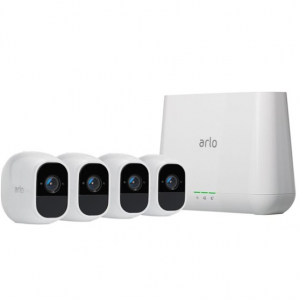 Arlo - Pro 2 4-Camera Indoor/Outdoor Wireless 1080p Security Camera System - White