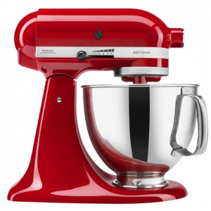KitchenAid - KSM150PSER Artisan Series Tilt-Head Stand Mixer - Empire Red