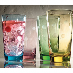 Artland Inc. Polka Dot 20 oz. HiBall Glasses - Set of 4