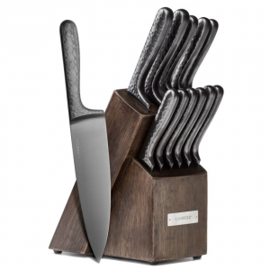 Cambridge Silversmiths Nero Hammered Titanium 12 Piece Knife Set