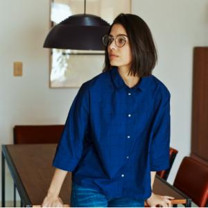 and myera ドルマン袖のシャツ