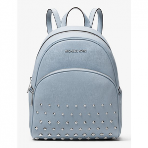 Abbey Medium Studded Pebbled Leather Backpack