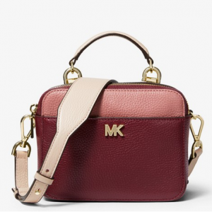 Mott Mini Color-Block Pebbled Leather Crossbody