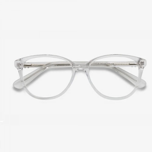 Hepburn Clear/White Eyeglasses For Women