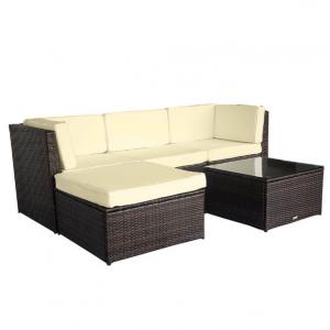 Luxo Muara Wicker Outdoor Sofa Setting - Brown
