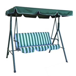 Luxo Jhoola 3 Seater Outdoor Swing Chair with Canopy - Green