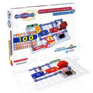 Snap Circuits Jr. SC-100 Electronics Exploration Kit | Over 100 STEM Projects | 4-Color Project Ma