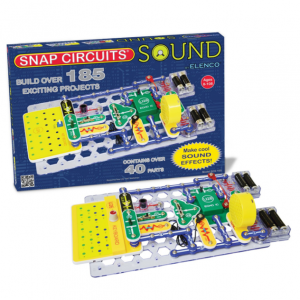 Snap Circuits Sound Electronics Exploration Kit | 185 Fun STEM Projects | 4-Color Project Manual |