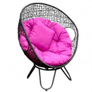 Serrana Round Wicker Swivel Egg Chair