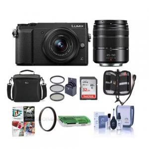 Panasonic LUMIX GX85 4K Mirrorless Camera Kit w/ 12-32mm + 45-150mm Lenses @Adorama