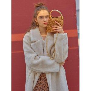 HIGH CHEEKS Handle Bag Wool Beige
