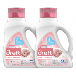 Dreft Stage 1: Newborn Hypoallergenic Liquid Baby Laundry Detergent @ Amazon