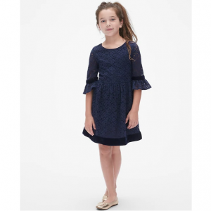 Gap Lace Bell-Sleeve Dress