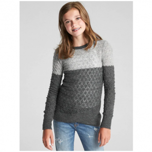 Gap Eyelet Colorblock Sweater