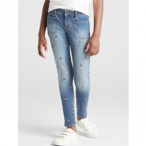 Gap Superdenim High Rise Floral Super Skinny Jeans with Fantastiflex