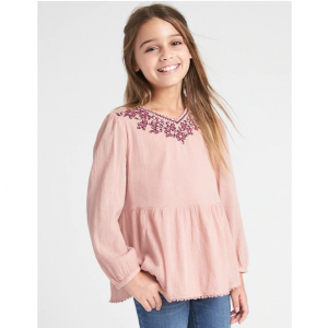 Gap Embroidered V-Neck Top