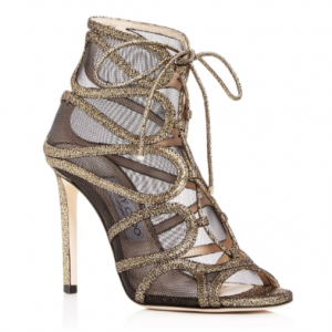 Jimmy Choo Women's Malena 100 Crackled Leather High-Heel Sandals