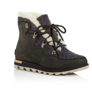06c85cc6c6bb Sorel Women s Sneakchic Alpine Holiday Shearling Waterproof Cold-Weather  Boots