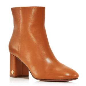 Tory Burch Women's Brooke Round Toe Leather Booties