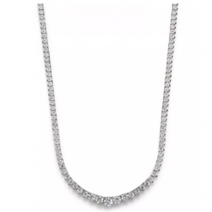 Bloomingdale's Certified Diamond Tennis Necklace in 14K White Gold, 10.0 ct. t.w. - 100% Exclusive