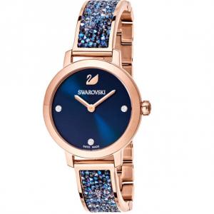 Cosmic Rock Watch, Metal Bracelet, Blue, Rose Gold Tone