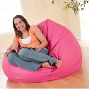 "X Rocker 132"" Round Extra Large Shiny Bean Bag, Multiple Colors"