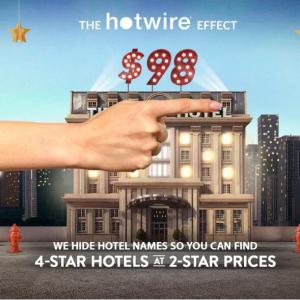 Hotwire官網 暑假酒店促銷  折上折