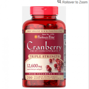 Triple Strength Cranberry Fruit Concentrate 12,600 mg