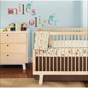 Skip Hop Alphabet 4 Piece Crib Bedding Set with Wall Decals