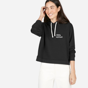 The 100% Human French Terry Hoodie in Small Print