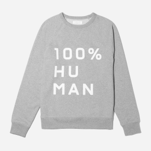 The 100% Human Unisex French Terry Sweatshirt in Large Print
