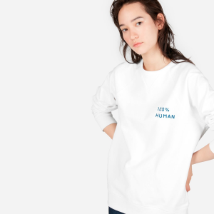 The 100% Human Pride Unisex French Terry Sweatshirt in Small Print