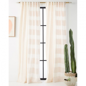 Woven Rayas Curtain, 63'' x 50''