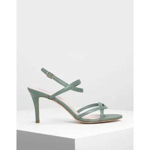Criss-Cross Strappy Slingback Heels