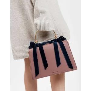 Velvet Bow Detail Handbag